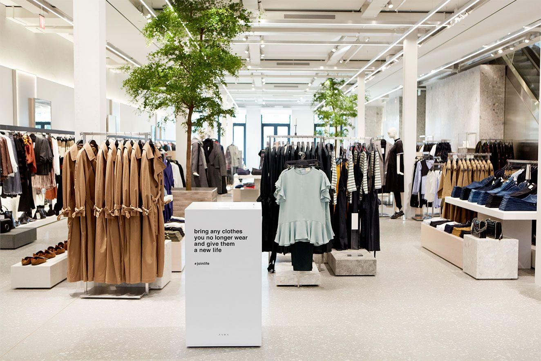 Zara Launches Sustainable Fashion Line Join Life Fast Fashion Design De Loja Vitrine De Loja De Roupas