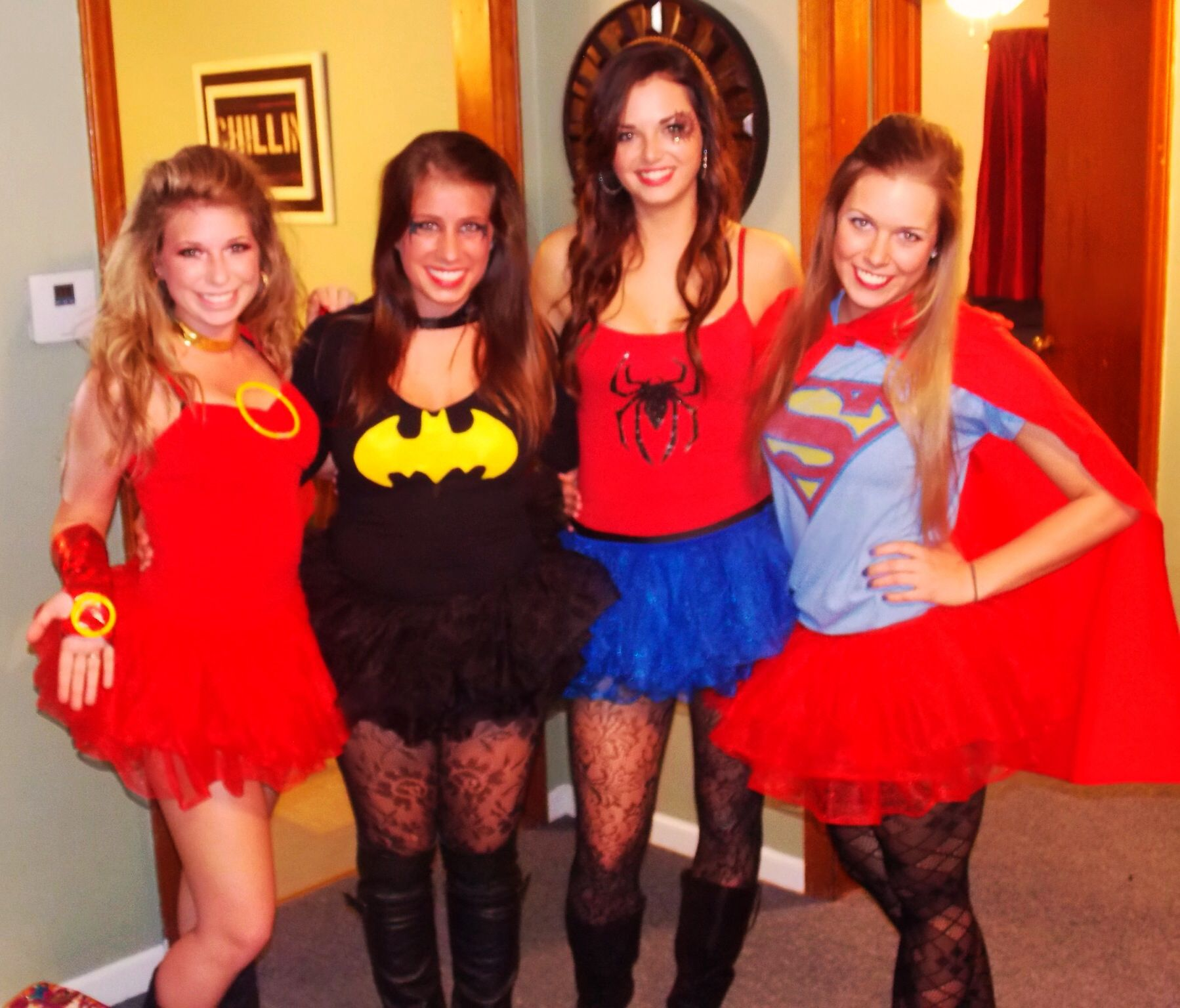 our DIY Halloween costumes! Iron man, batman, Spider-Man, and ...