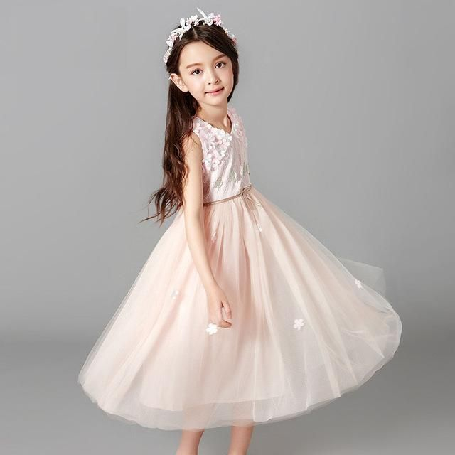 4b7421186a74 birthday party gown blue Princess evening Tutu dress Baby girl dresses for 4  5 6 7 8 9 10 11 12 13 14 15 16 years teenager pink