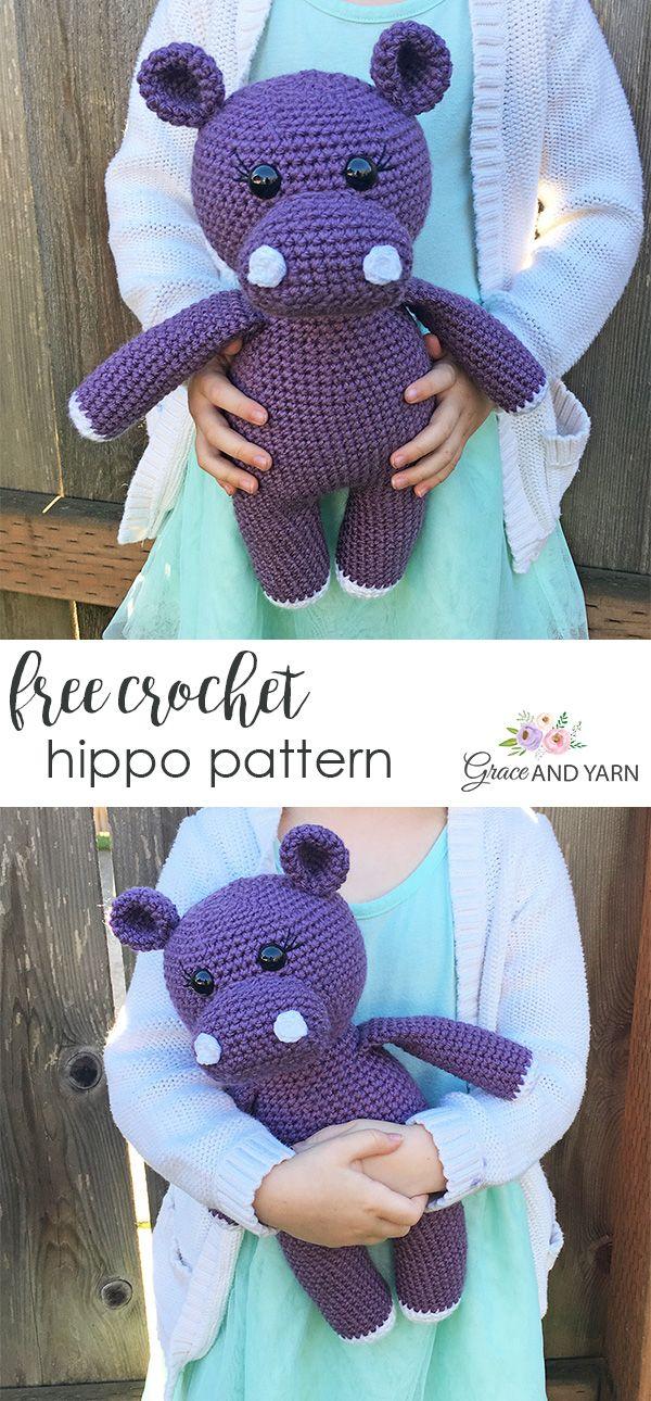 Free Crochet Hippo Pattern
