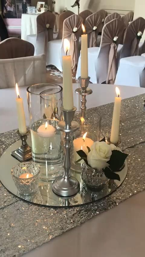 Photo of Hirst priory elegant table centre piece