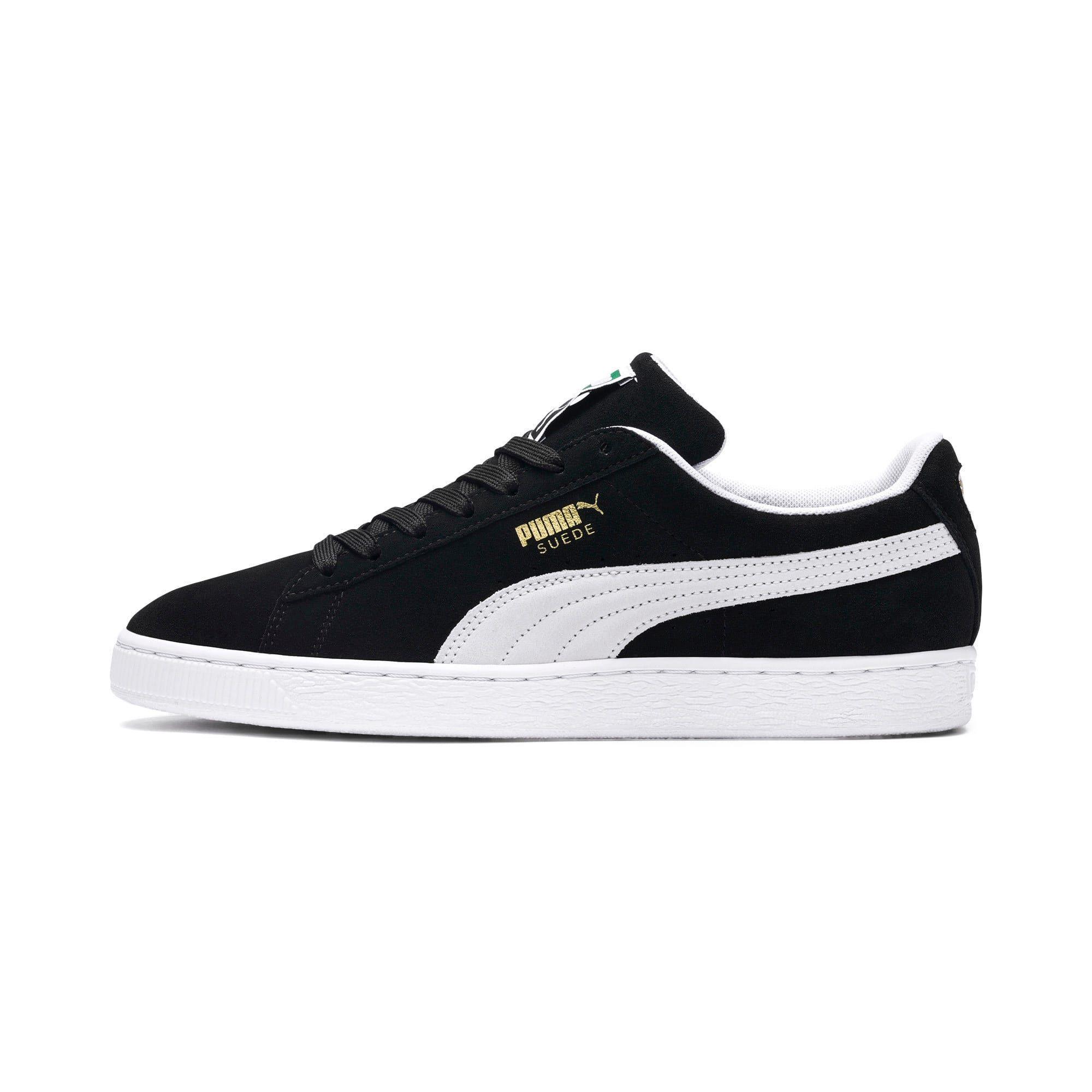 chaussure puma suede noir et blanc