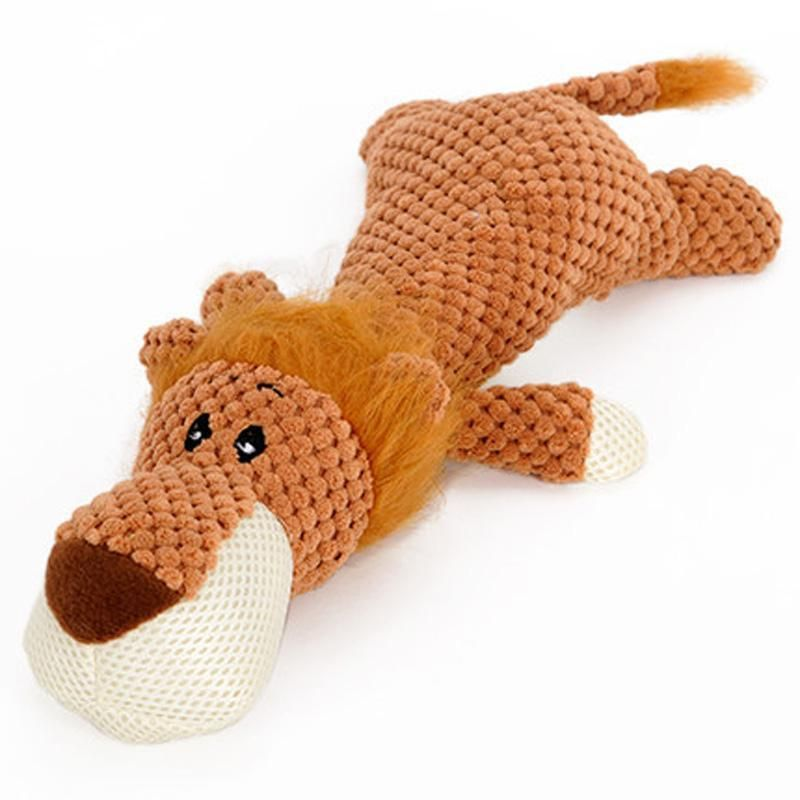 Pet Toy Animal Shape Lion Elephant Sound Chew Three Colors