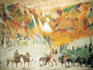 Autumn Storm on Crazy Woman Mountain by Earl Biss
