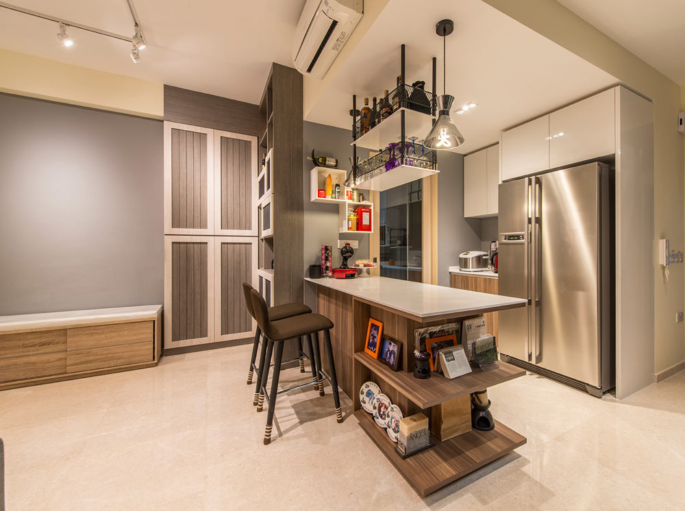 8 Ways To Do A Semi Open Kitchen In Your Hdb Semi Open Kitchen Kitchen Room Design Open Space Living Room