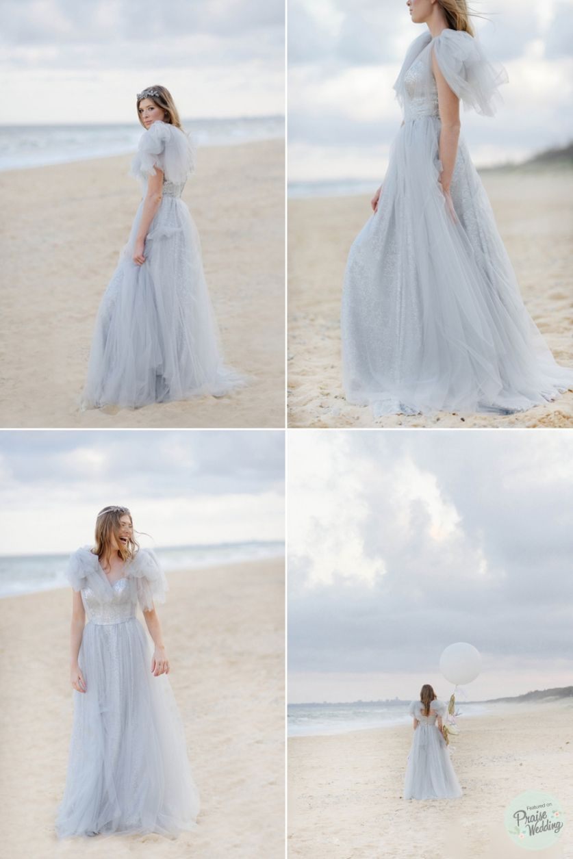 Beach dusty blue beauty dusty blue wedding dress and wedding