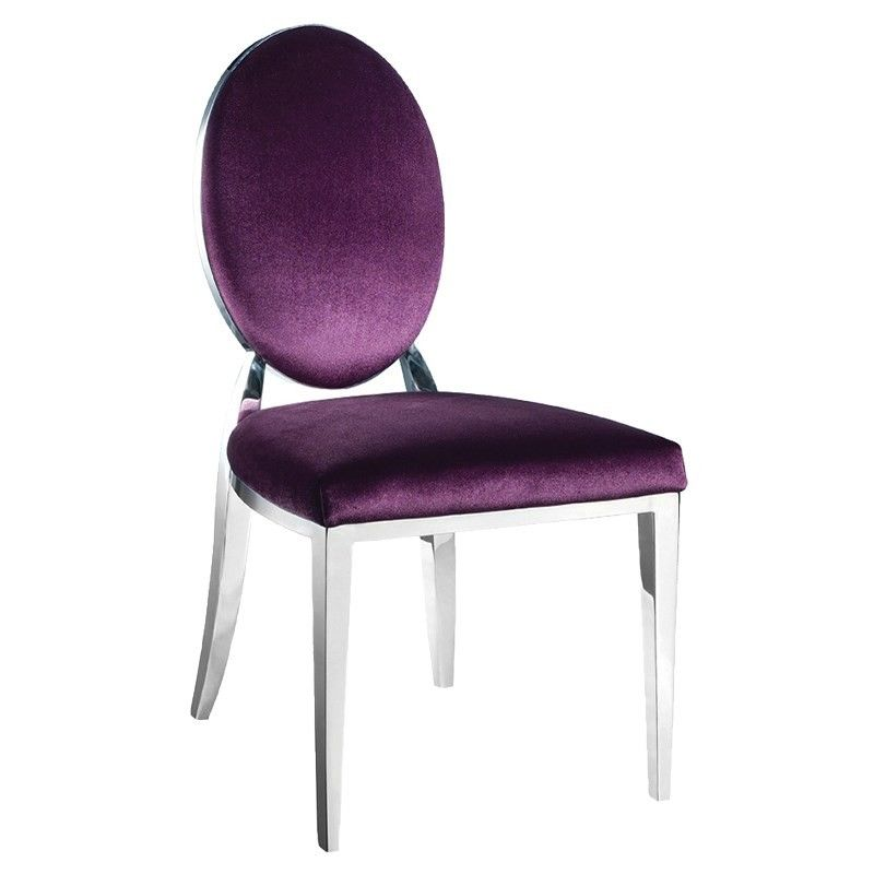 Blue Denim Button Dining Chair Purple dining chairs
