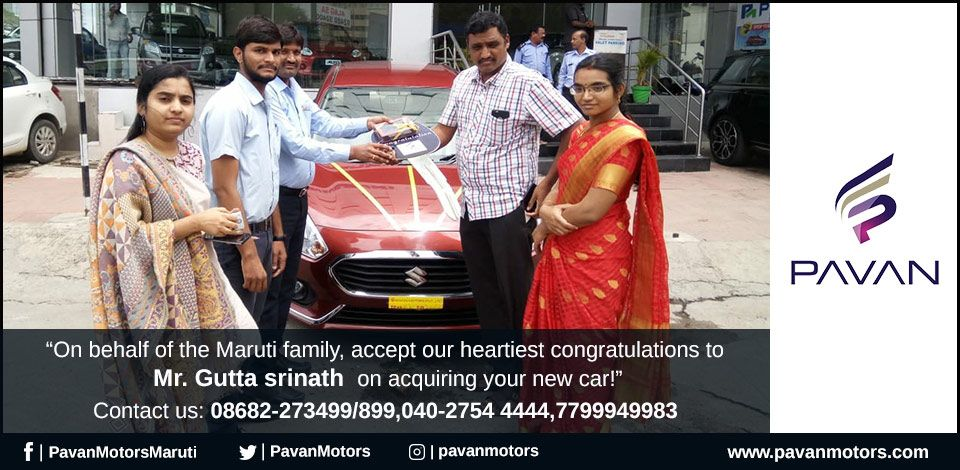 """""""On behalf of the Maruti family, accept our heartiest"""