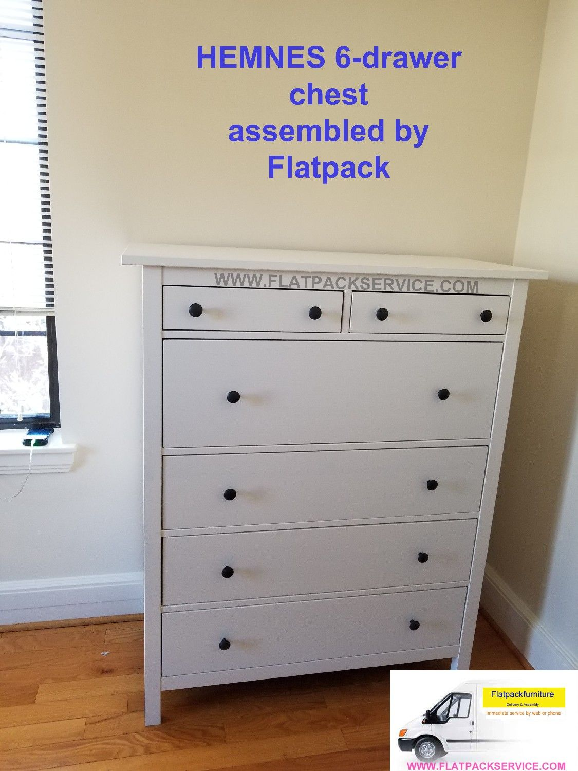 Ikea Hemnes 6 Drawer Chest Article Number Embled By Flatpack Embly