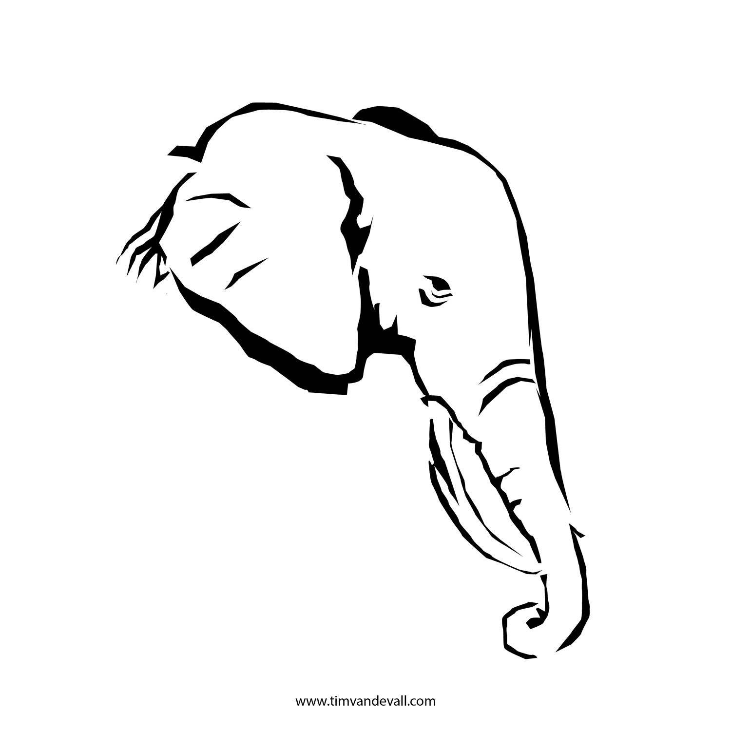 Best Photos Of Elephant Head Outline Black And White Elephant Clipart Best Clipart Best Outline Illustration Elephant Outline Elephant Stencil