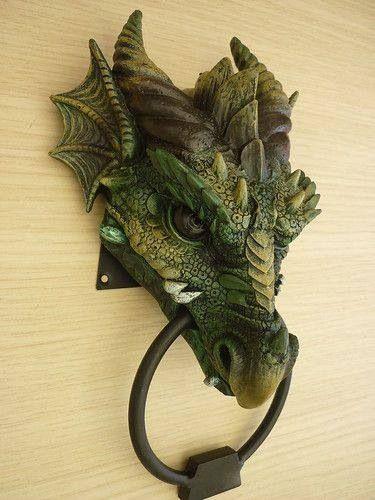 \u0027kryst\u0027 gothic dragon head door knocker ~ amazing & kryst\u0027 gothic dragon head door knocker ~ amazing | Dragons Doors ...