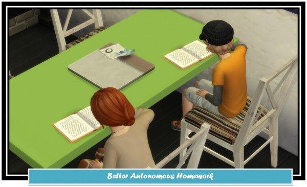 Mod The Sims Better Autonomous Homework By Littlemssam Sims 4 Downloads Sims 4 Sims Sims 4 Mods