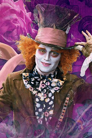 Johnny Depp As The Mad Hatter In Tim Burton S Alice In