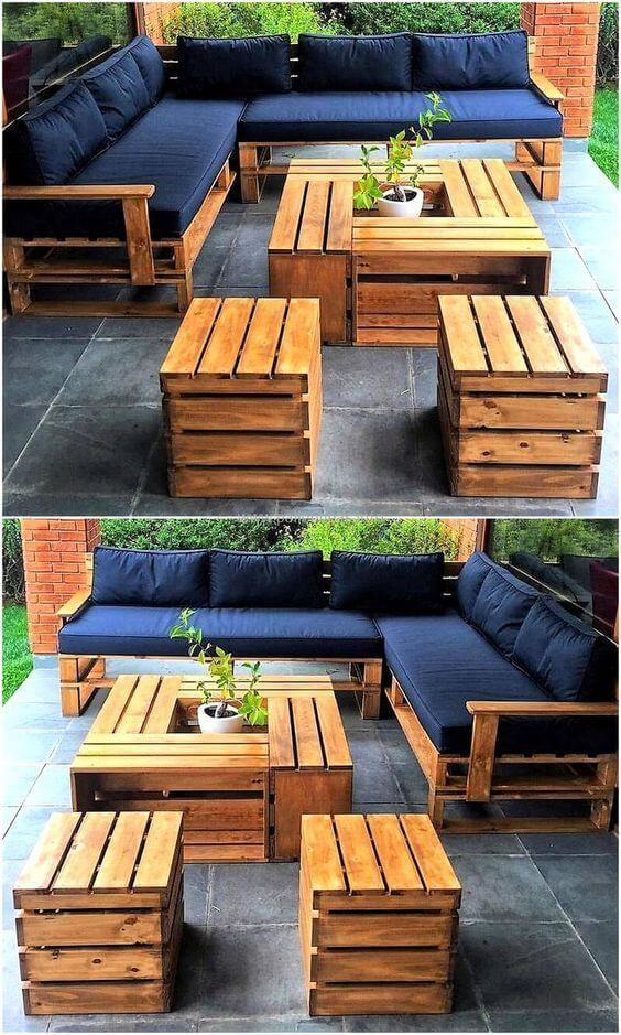 Photo of Get inspired to create a whole DIY outdoor pallet set that you can enjoy Palette #diypallet – diy pallet creations – My Blog