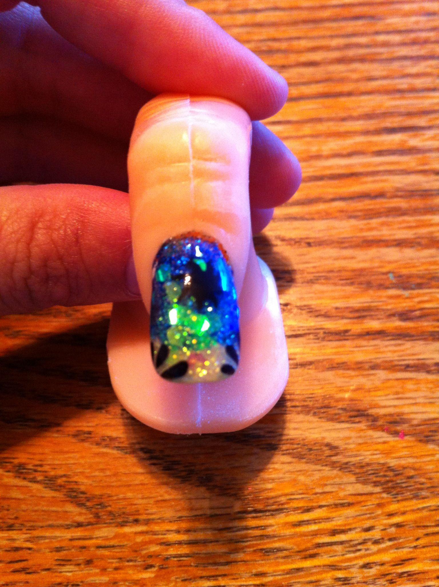 Fun summer nail design I did few months back | Finger Nail art ...