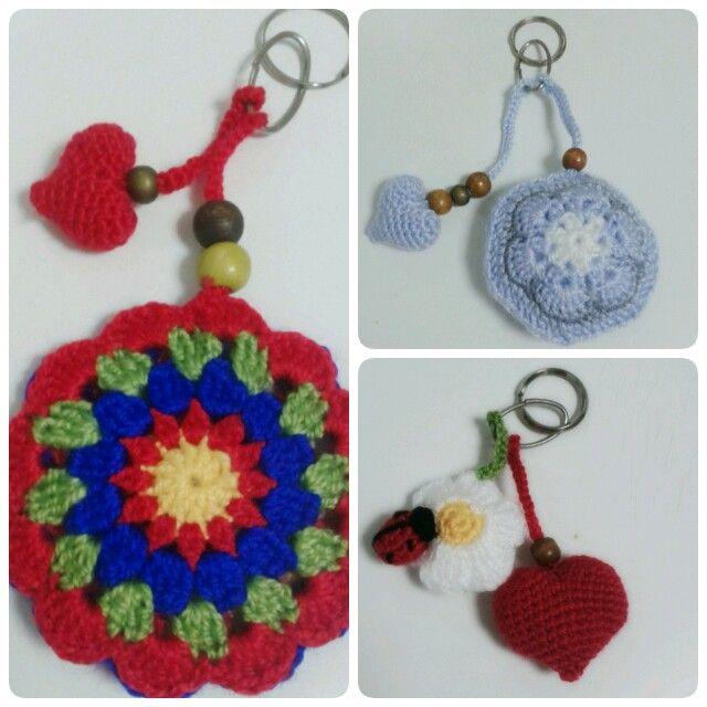 Llaveros crochet. | Las Cositas De Mi Amiga | Pinterest | Croché ...