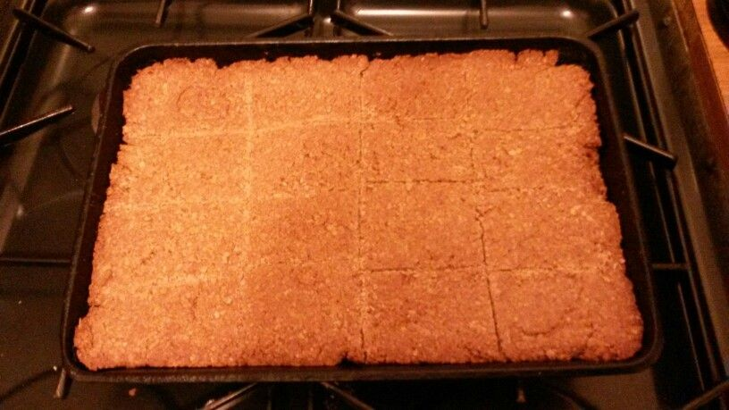 Flapjack just like my Aunty Anne makes. Just hope it tastes the way it smells.