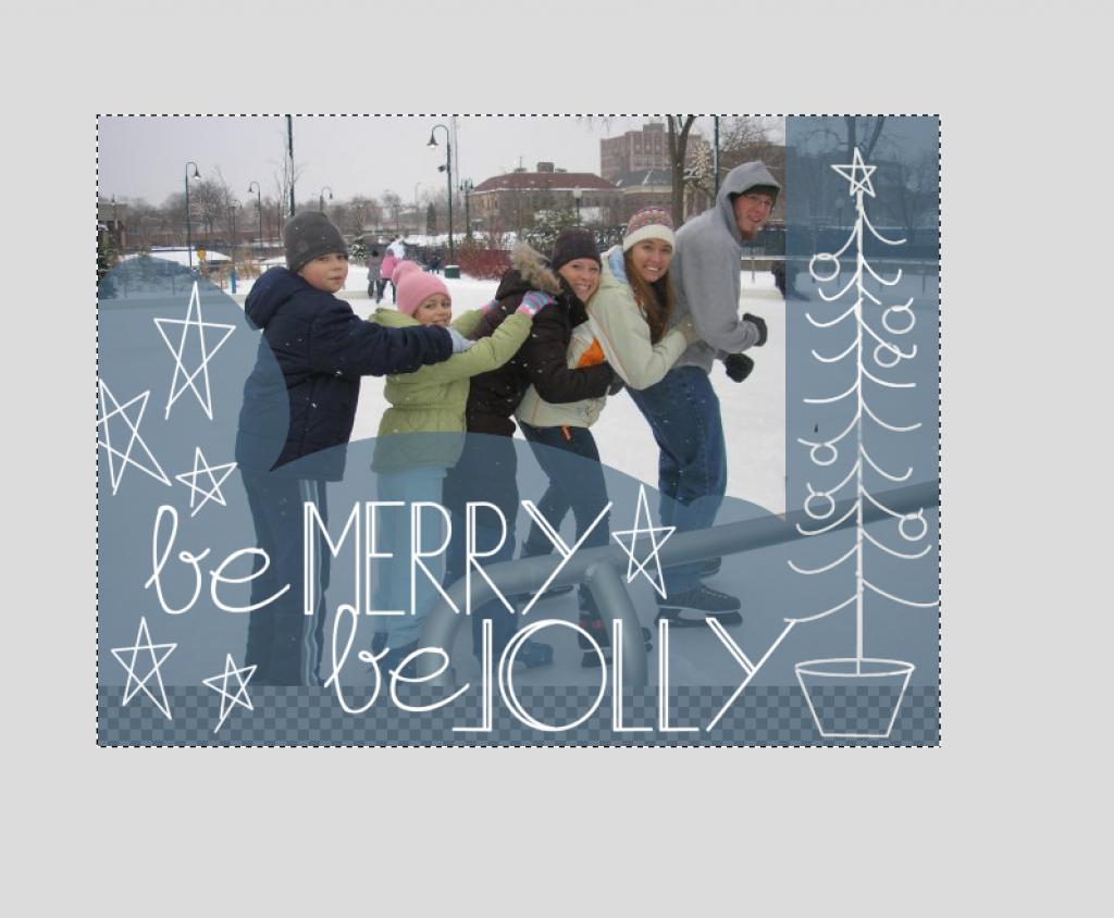 Diy Easy Christmas Card Tutorial For Gimp Christmas Card Tutorials Christmas Cards Custom Christmas Cards