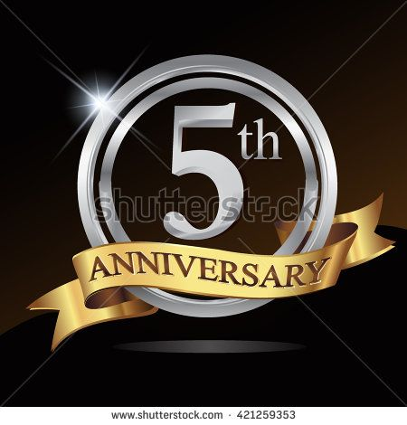 5th Silver Anniversary Logo 5 Years Anniversary Celebration With