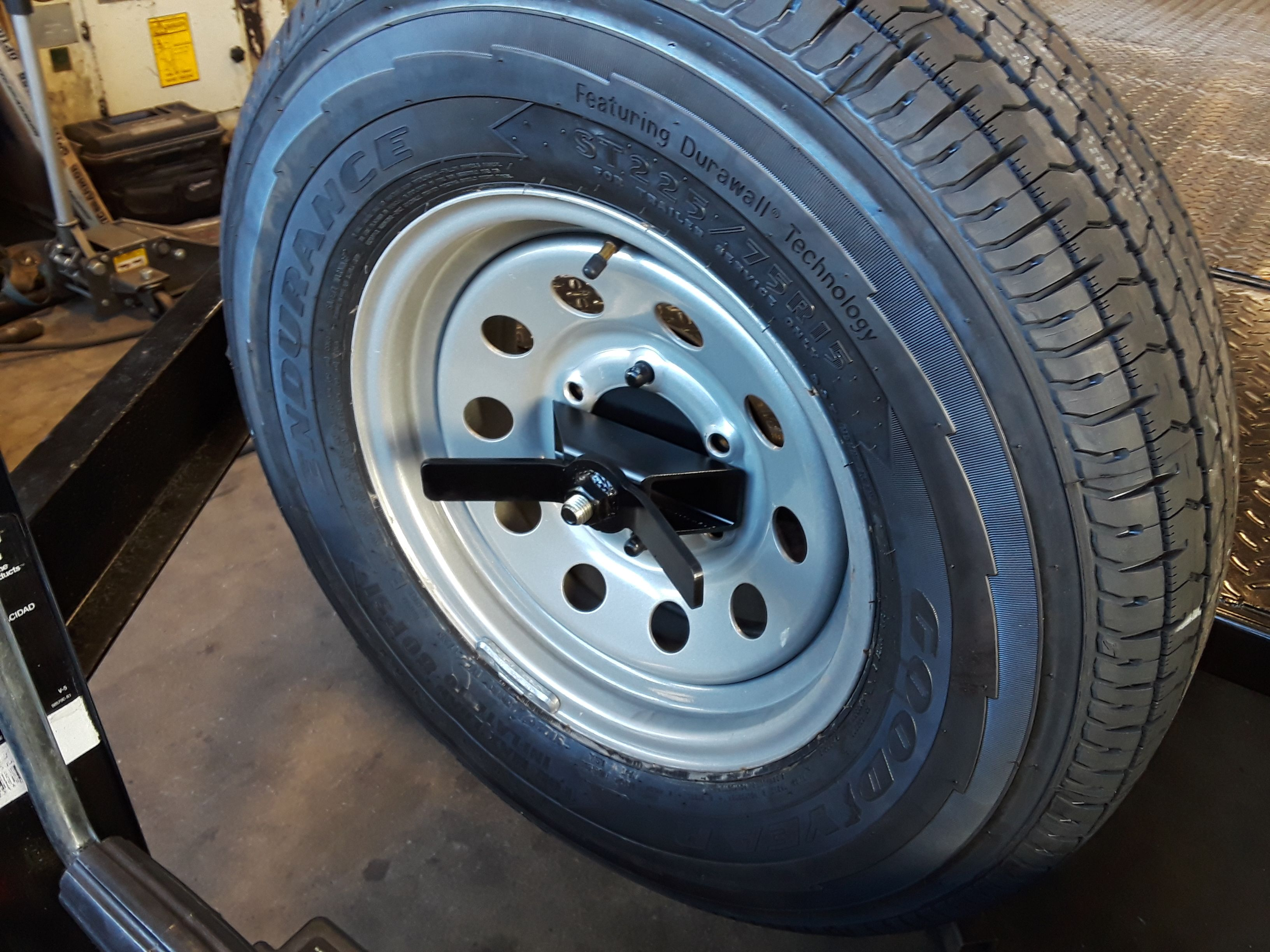 Beefy spare tire mount from today spare tire mount