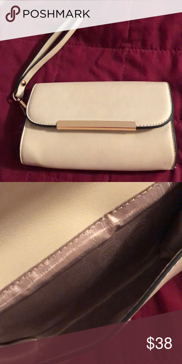 dfa06c8ac922 Michael Kors Wristlet clutch purse Gently used, CUTE tan MK wristlet.  Perfect for carrying small wallet and phone for a night out! Michael Kors  Bags ...