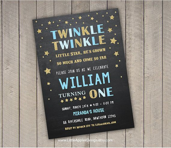 Twinkle Twinkle Little Star Invitation / twinkle by DreamyDuck