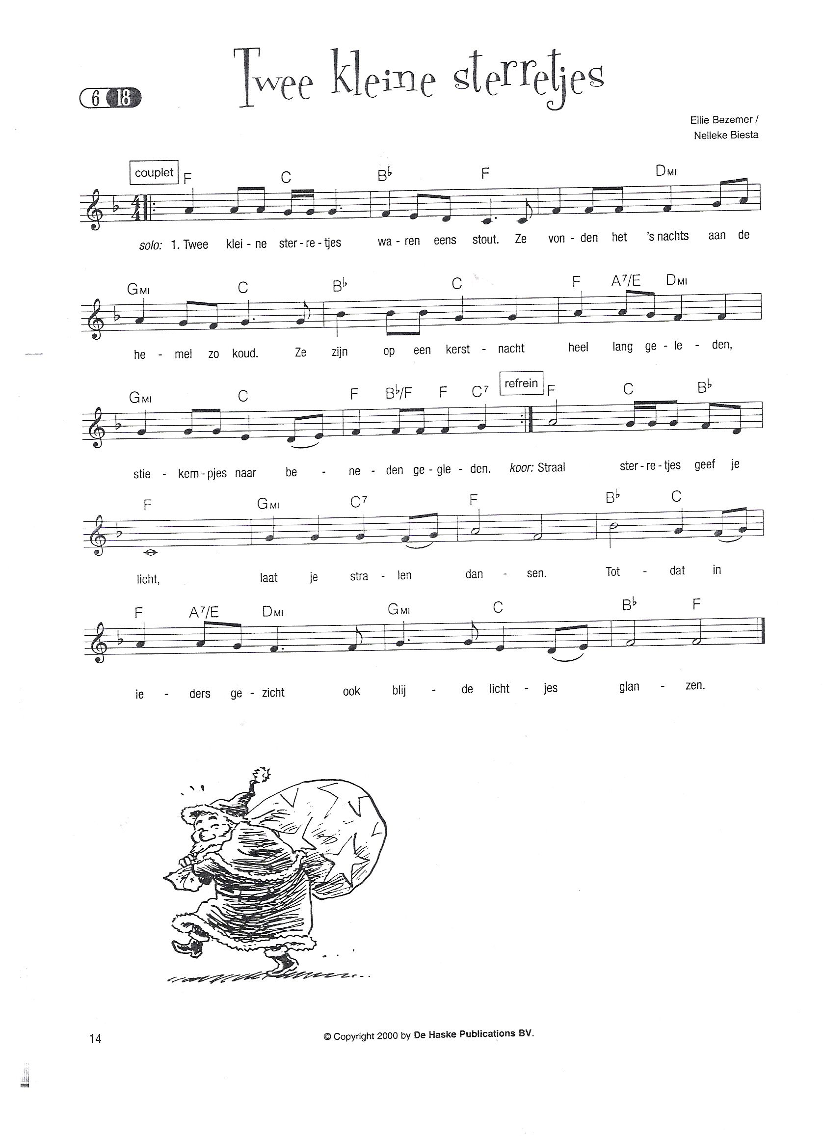 Bekend Twee kleine sterretjes_muzieknoten | pesmice - Christmas, Music &AS26