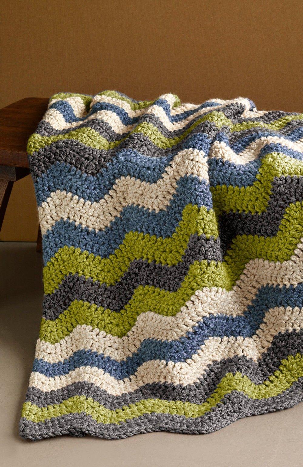 Shaded Ripple Afghan Pattern (Crochet) | Crochet | Pinterest ...