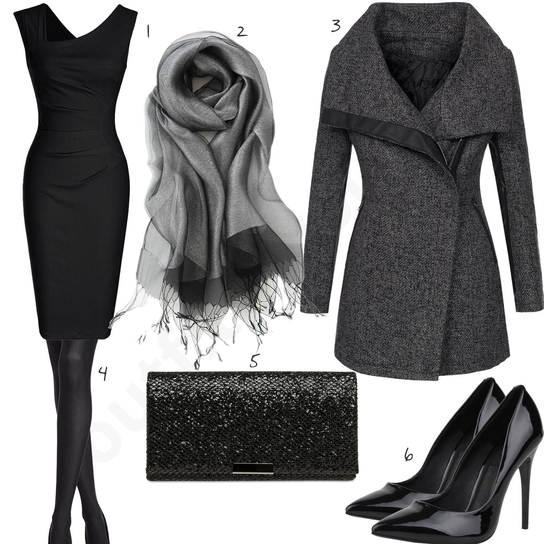 Damenoutfit Kurzem Elegantes Schwarzen Mit KleidKurzes yNv08wnmO
