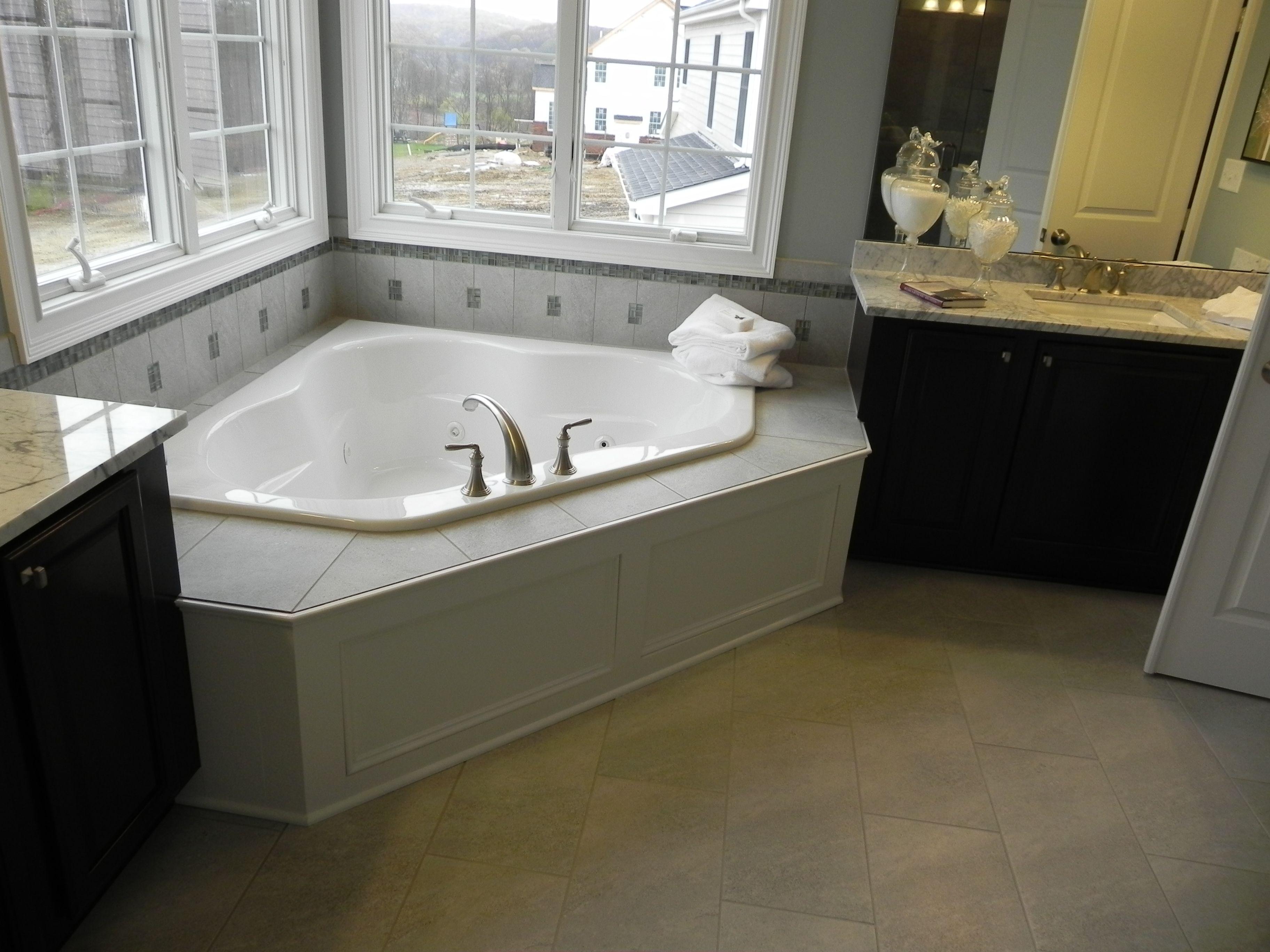 Corner Tub In Master Bedroom