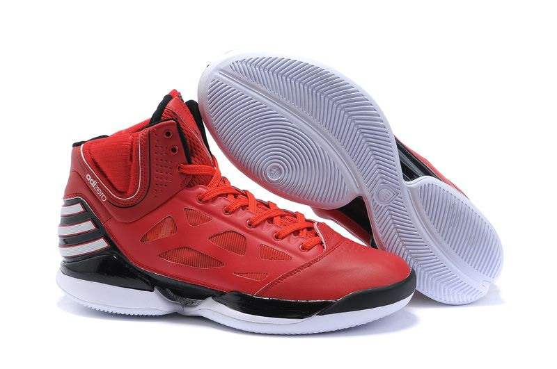 derrick rose new shoes Adidas AdiZero Rose Dominate Red Black White Mens  Shoes