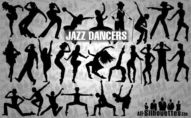 jazz dancers - all-silhouettes.com-People-pin-12