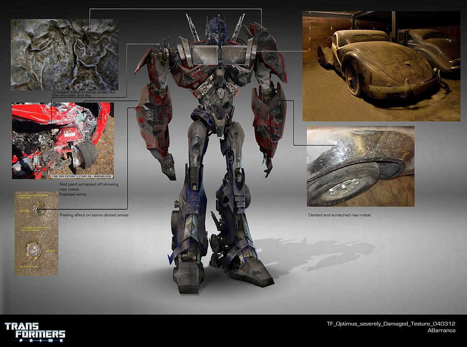 Optimus prime damage texture transformers prime autobot - Optimus prime dessin ...