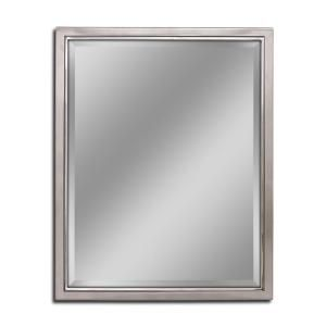 Deco Mirror 30 In W X 40 H Clic Metal Framed Wall Brush Nickel Chrome With Inner Lip Bathroom Vanity
