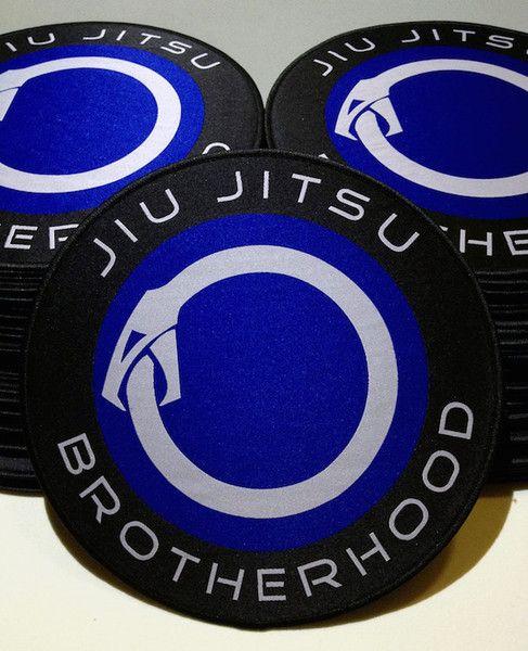 Iron Sew on Badge BJJ Gi Kimono Grappling Brazilian Jiu Jitsu Patch 3.5 INCH