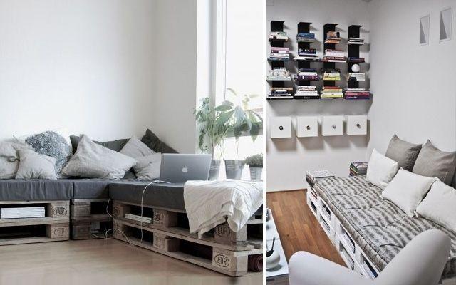 palettenmöbel sofa weiß lackieren europaletten nutzen Pallet - gartenmobel paletten bauanleitung