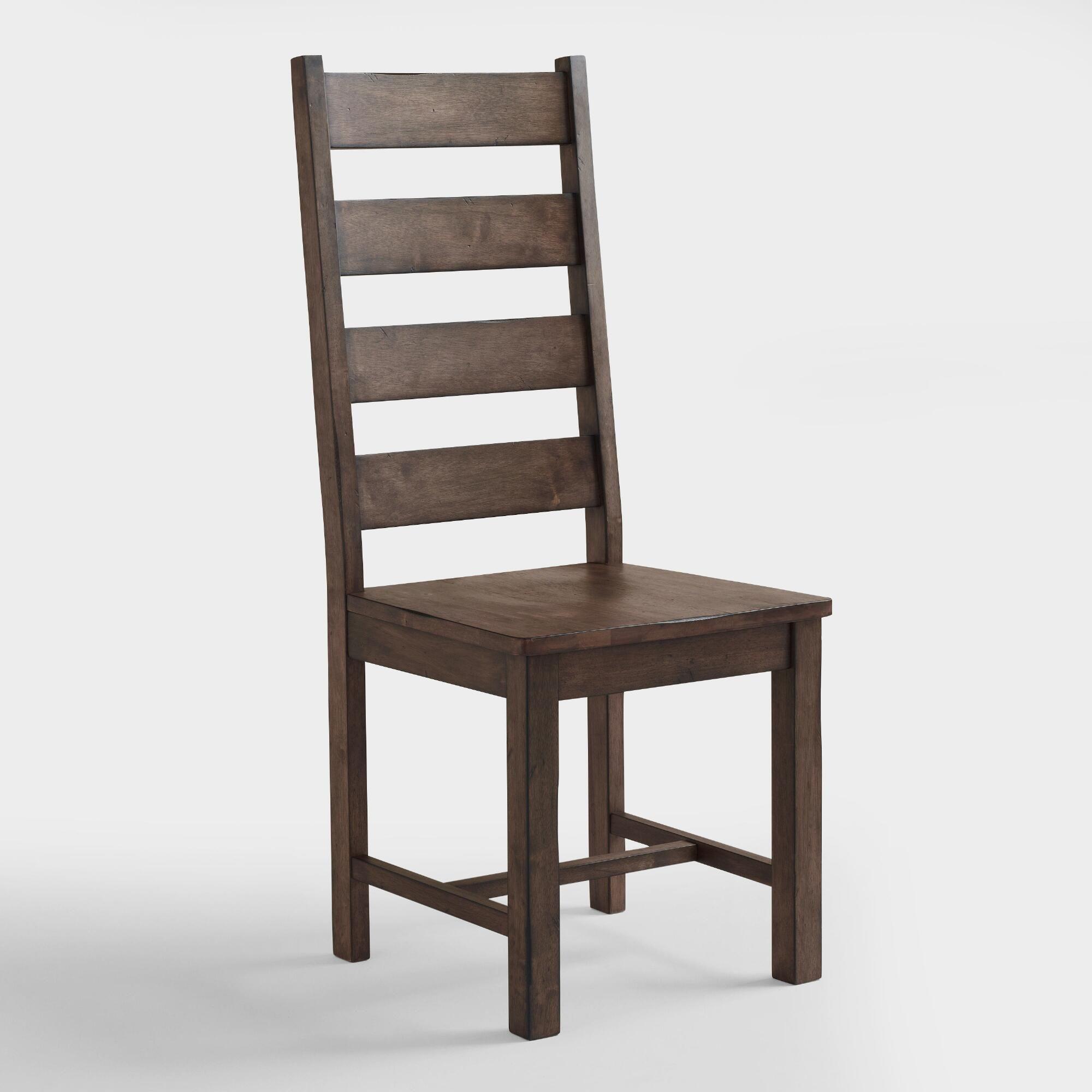 World market wood garner dining chairs