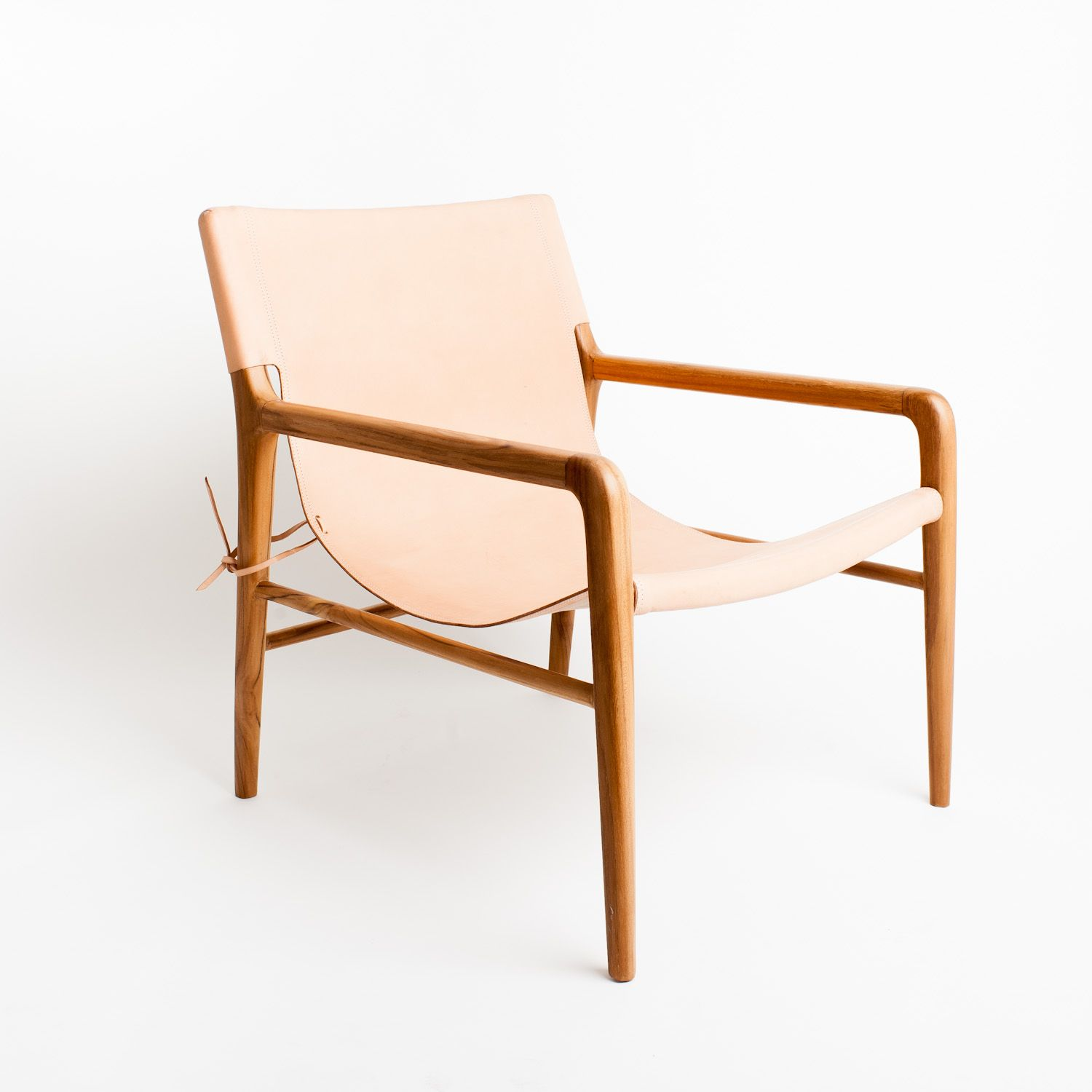 The Smith Blush Leather Sling chair available at