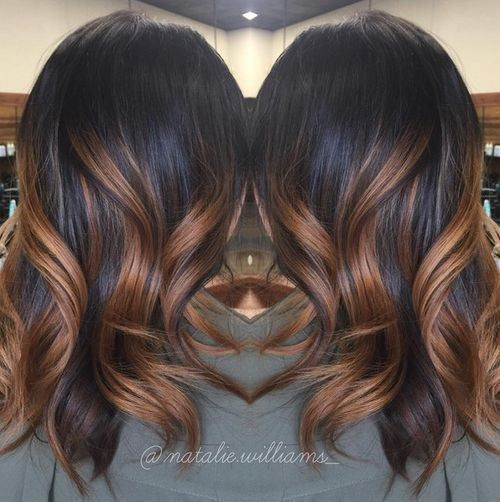 40 hair color ideas that are perfectly on point caramel ombre ombre highlights and black hair. Black Bedroom Furniture Sets. Home Design Ideas