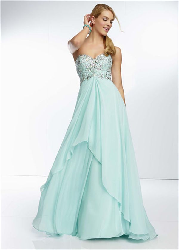 Mori Lee 95077 Long Mint Sparkling Prom Dresses 2014 | mint prom ...