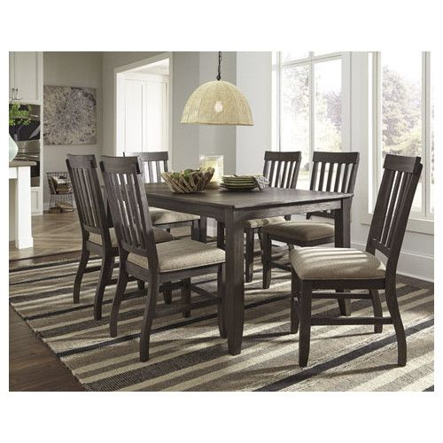 Signature Design By Ashley 7 Piece Dining Set Rectangular Dining Room Table Dining Room Table Set Dining Room Sets