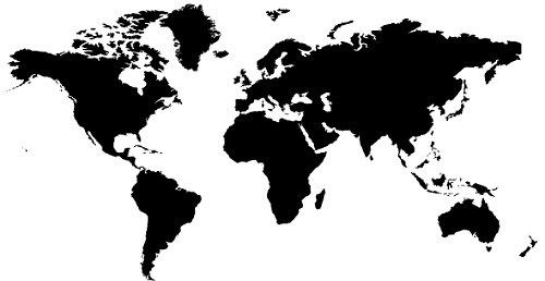 50 Free High Quality Silhouette Sets World map wall