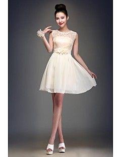 báli ruhát jewel térdig érő sifon koszorúslány ruha  b7a0470cd8