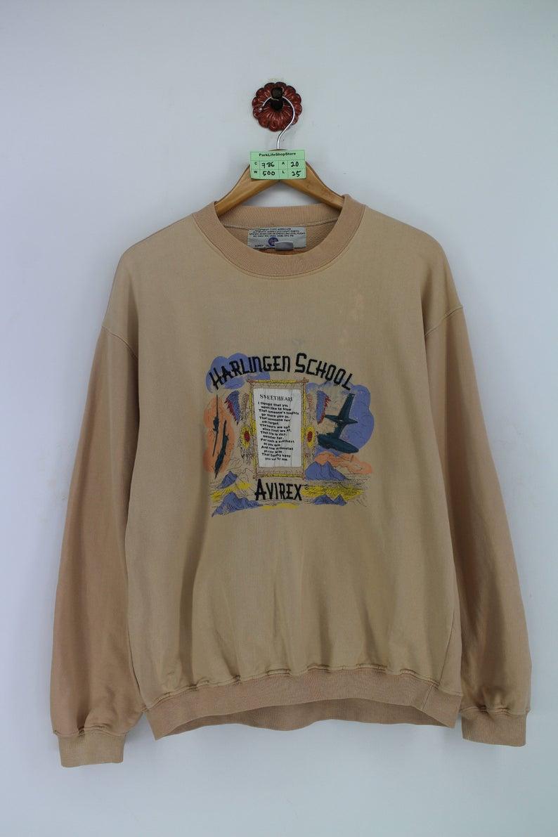 Vintage 90s Avirex Usa Pullover Sweatshirt Medium Avirex Air Etsy Avirex Sweatshirts Pullover [ 1191 x 794 Pixel ]