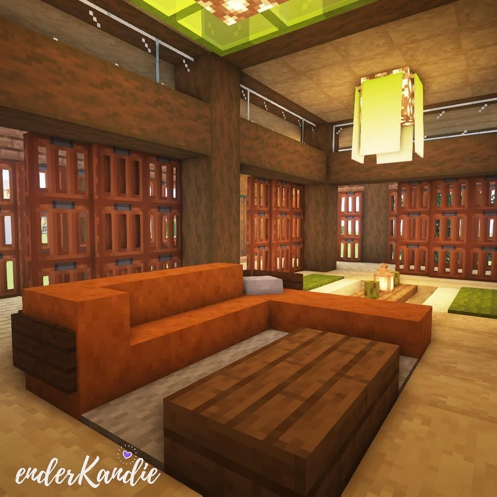 Pin By L On Minecraft Decoraciones Japanese Living Room Wood Burning Stove Minecraft Living Room Furniture Living room design minecraft