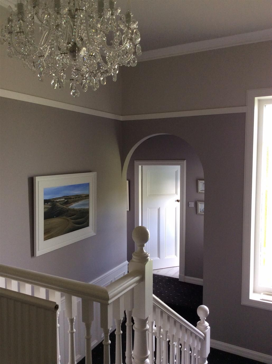 1930s hallway decorating ideas Dove Tale and Skimming Stone Farrow u Ball Inspiration  Paint