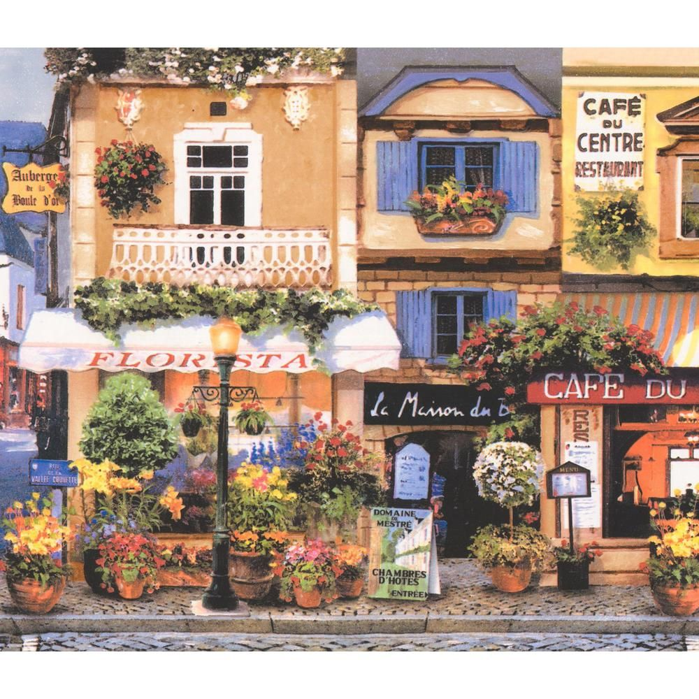 Retro Art Retro French Town Paris Lille Restaurants Cafe