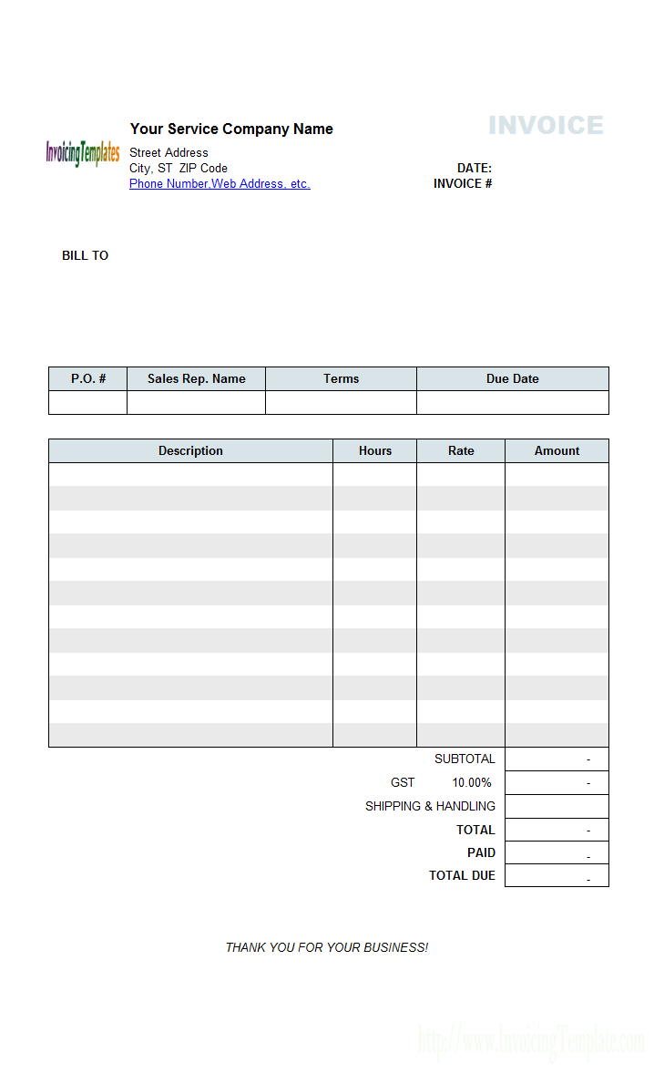 Medical Receipt Template In Printable Format Service And Payment Description