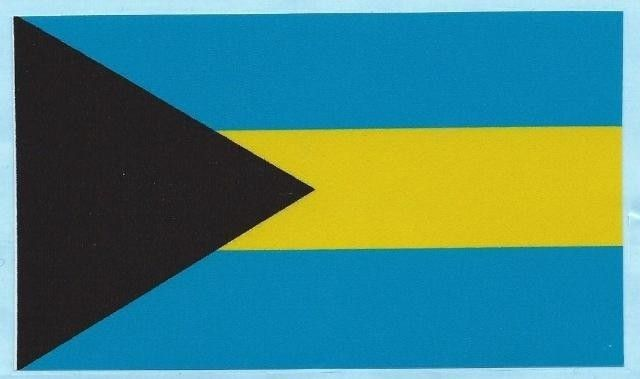 5 x 3 bahamas country flag vinyl bumper sticker decal window stickers decals
