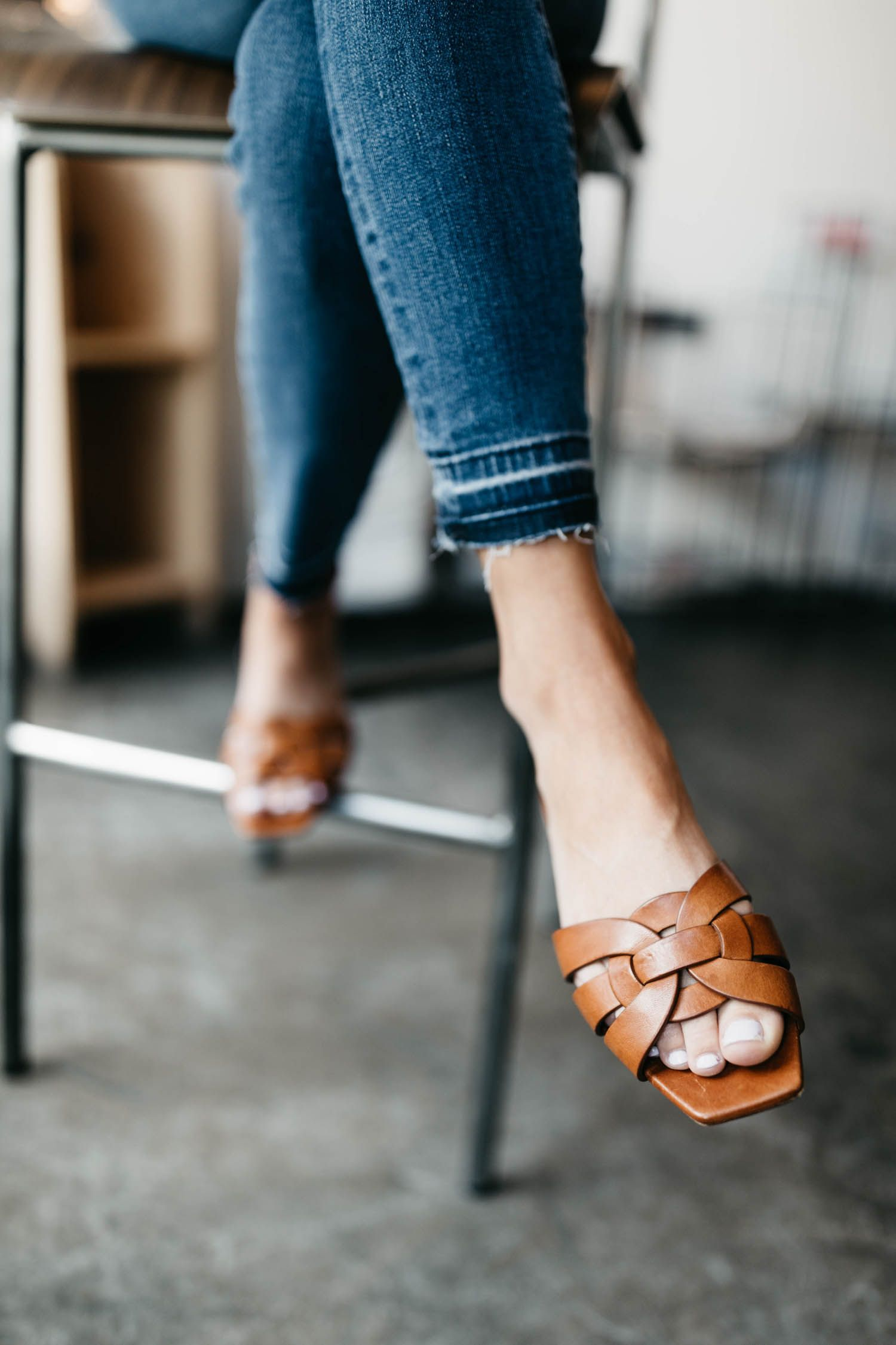 Leather sandals outfit